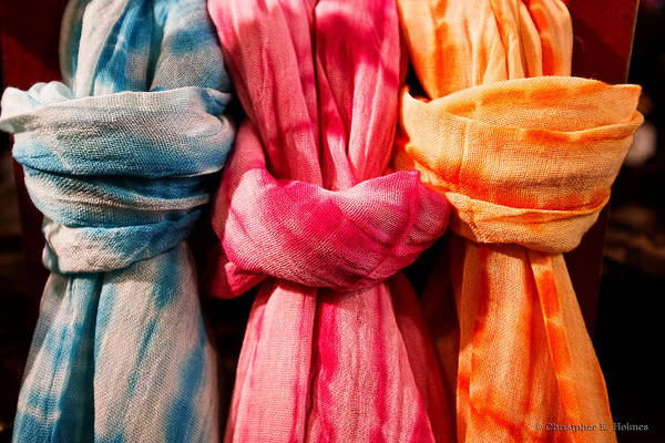 Photograph - Three Tie-dye Knots by Christopher Holmes