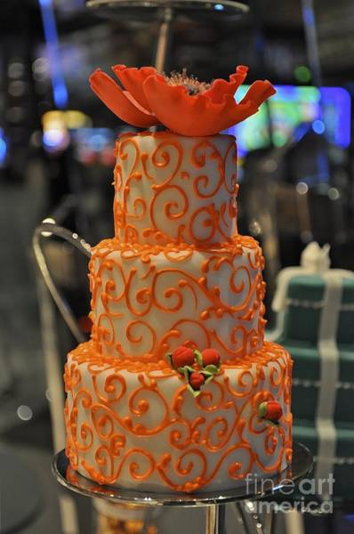 Photograph - Three Tier Cake by Bridgette Gomes