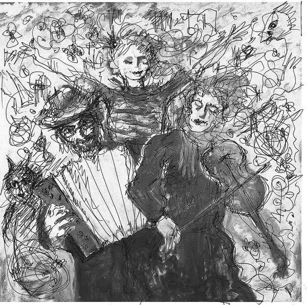 Painting - Three Troubadours by Maxim Komissarchik
