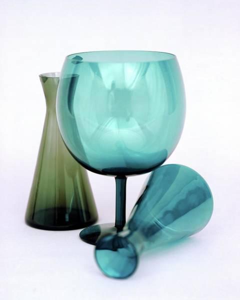Wine Photograph - Three Venini Glasses by Richard Rutledge