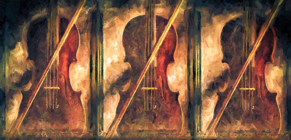 Musical Instrument Painting - Three Violins by Bob Orsillo