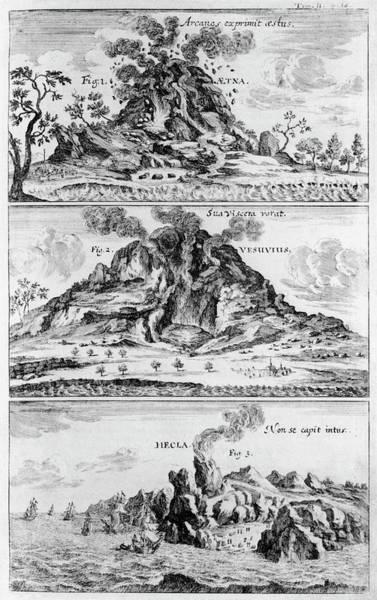 Three Volcanoes Erupting Art Print