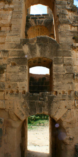 El Jem Photograph - Three Windows by Jon Emery