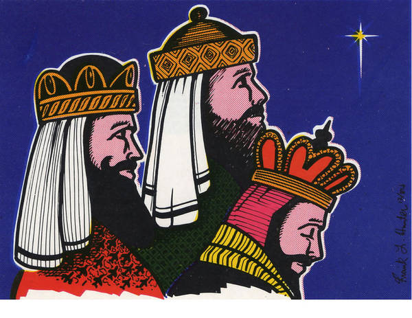 Painting - Three Wise Men by Frank Hunter