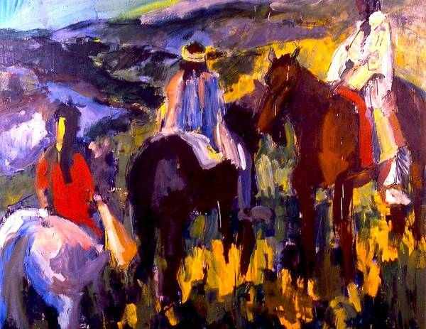Painting - Three Wise Men by Les Leffingwell
