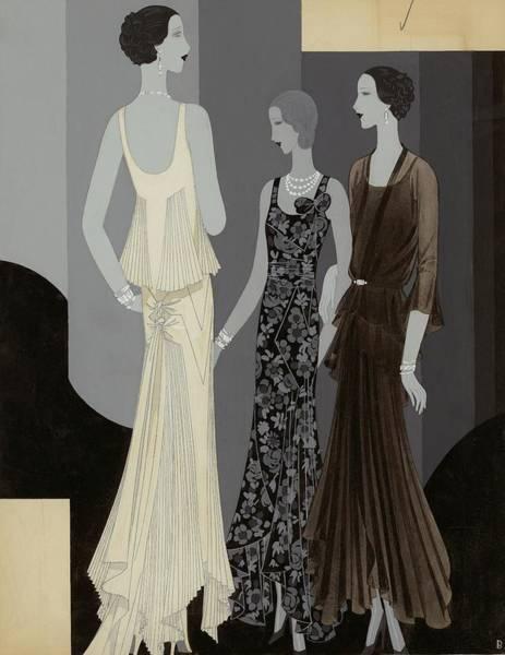 Necklace Digital Art - Three Women Wearing Chanel by William Bolin