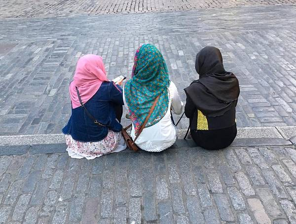 Three Young Muslim Girls Art Print by Montes-Bradley