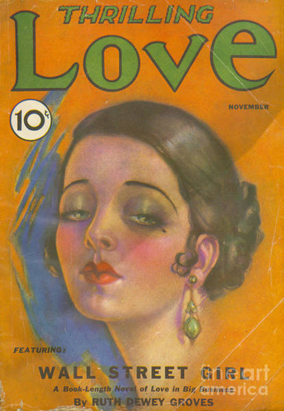 Nineteen-thirties Wall Art - Drawing - Thrilling Love 1931 1930s Usa Pulp by The Advertising Archives