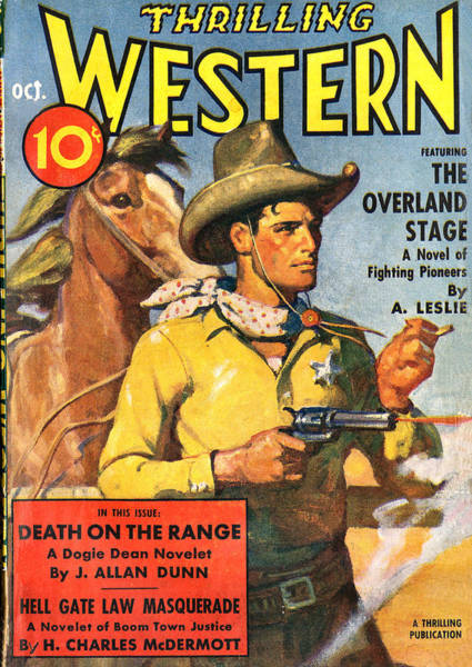 Photograph - Thrilling Western Comic Book Cover by Studio Art