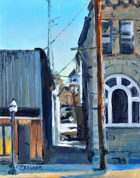 Courthouse Towers Painting - Through The Alley by Spencer Meagher