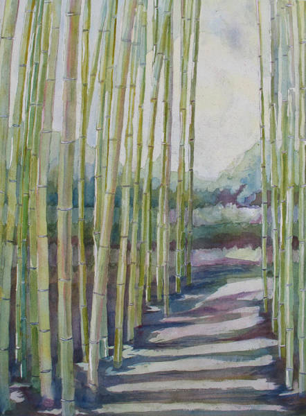 Bamboo Painting - Through The Bamboo Grove by Jenny Armitage
