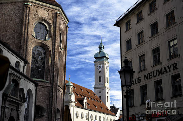 Photograph - Through The Buildings In Munich by John Rizzuto