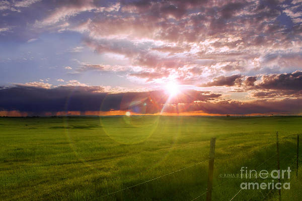 Photograph - California Sun Through The Clouds by Rima Biswas