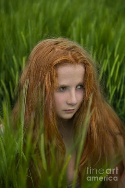 Redhead Photograph - Through The Fear by Evelina Kremsdorf