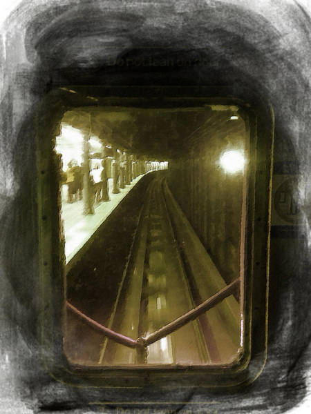 Painting - Through The Last Subway Car Window by Tony Rubino