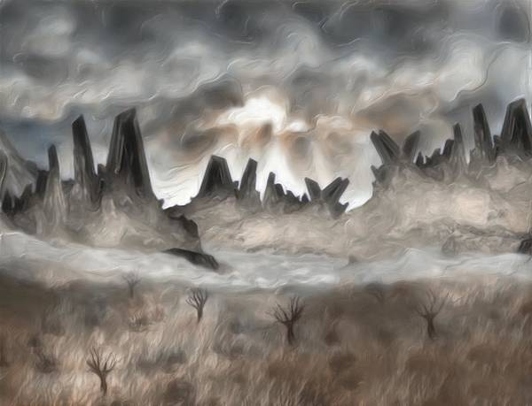 Prairie Grass Painting - Through The Mist by Jack Zulli