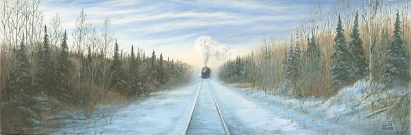 Diesel Trains Painting - Through The Pines by Dan Reid