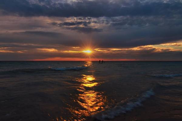 Photograph - Through The Sunset At Sleeping Bear Dunes by Dan Sproul