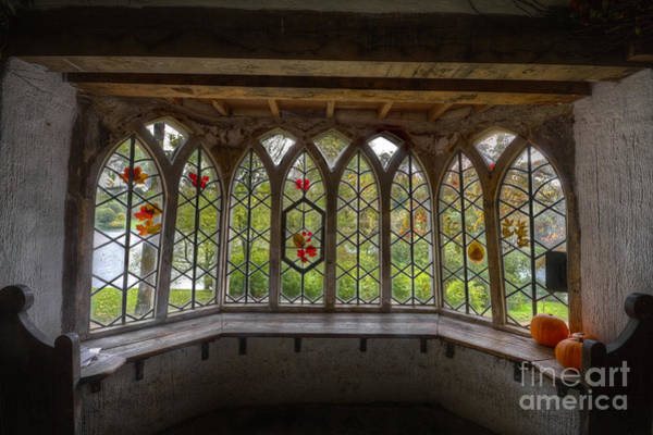 Stourhead Photograph - Through The Window At The Gothic Cottage Stourhead by Clare Bambers
