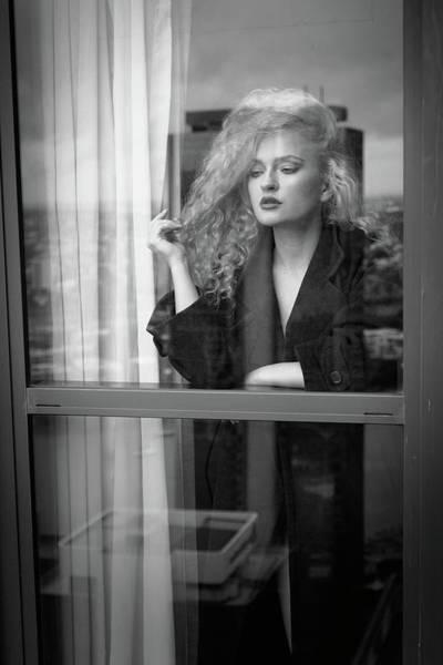 Hair Photograph - Through The Window by Mel Brackstone