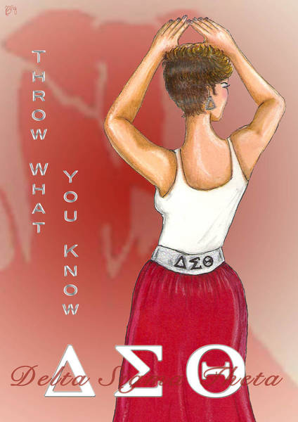 Faded Digital Art - Throw What You Know Series - Delta Sigma Theta by BFly Designs