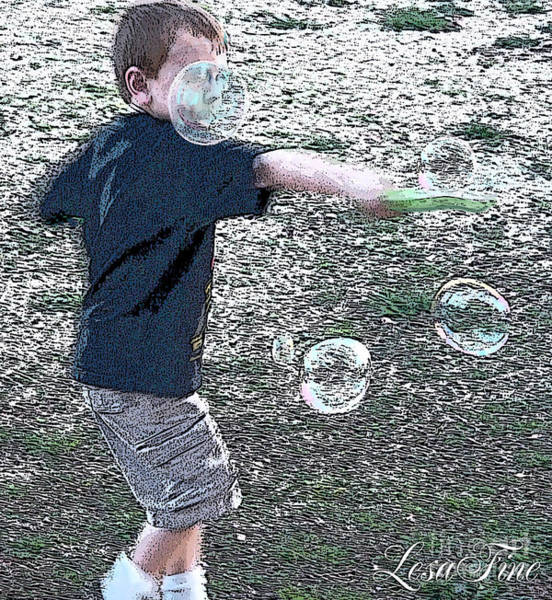 Wall Art - Photograph - Throwing Bubbles by Lesa Fine