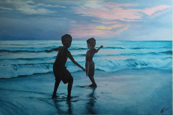 Throwing Sand Art Print