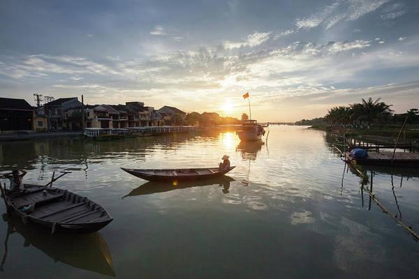 Hoi An Photograph - Thu Bon Riverside In Hoi An At Dusk by 117 Imagery