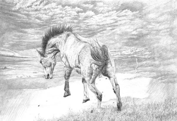 Stormy Drawing - Thunder And Lightning by Laura Klassen