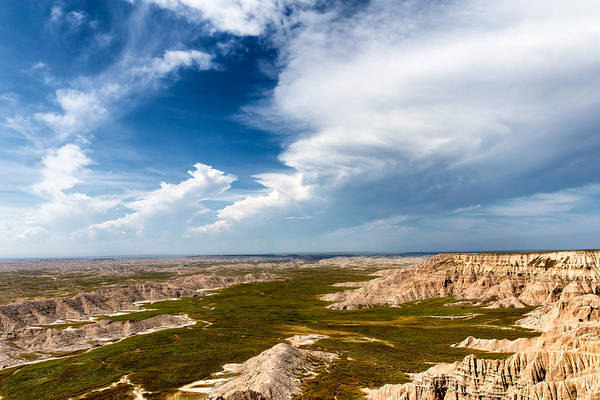 North Dakota Badlands Wall Art - Photograph - Thunder Clouds Pine Ridge Agency Sd by Troy Montemayor