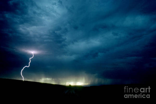 Photograph - Thunder Storm, Wyoming by Mark Newman
