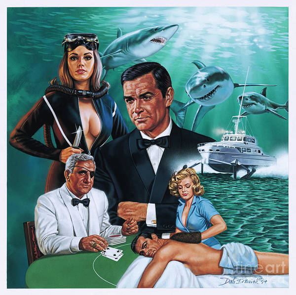Wall Art - Painting - Thunderball by Dick Bobnick