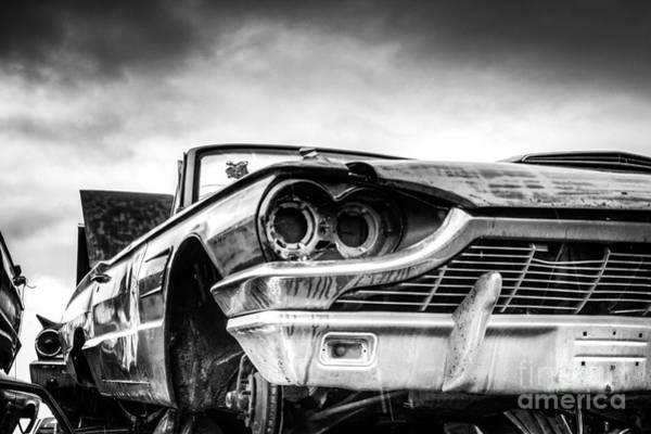 Wrecking Yard Photograph - Thunderbird Convertible Bw by Mark Brooks