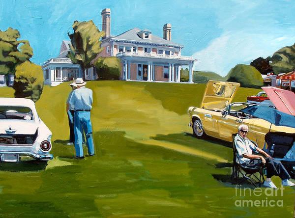 Painting - Thunderbird Lawn by Deb Putnam