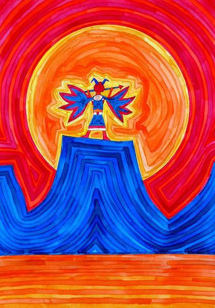 Painting - Thunderbird Original Painting Sold by Sol Luckman