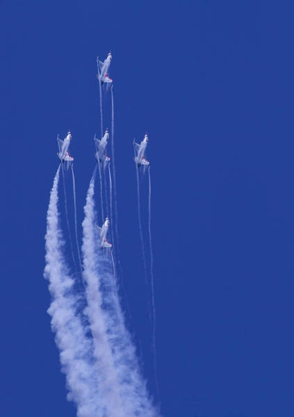 Photograph - Thunderbirds 5 Straight Up With Contrails by Donna Corless