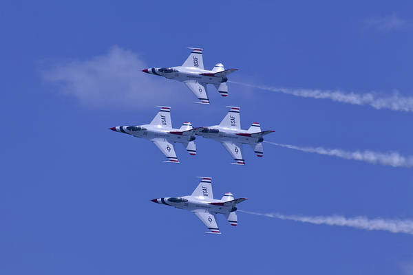 Photograph - Thunderbirds Diamond Formation Topsides by Donna Corless