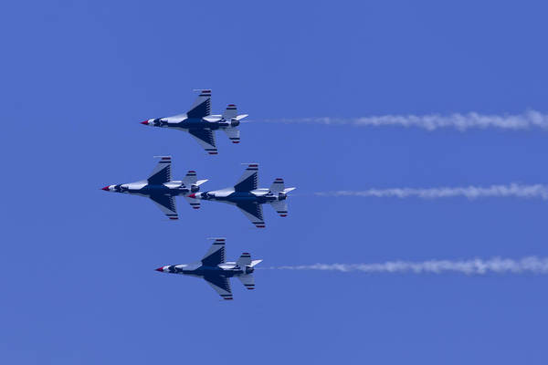 Photograph - Thunderbirds Diamond Formation Undersides by Donna Corless
