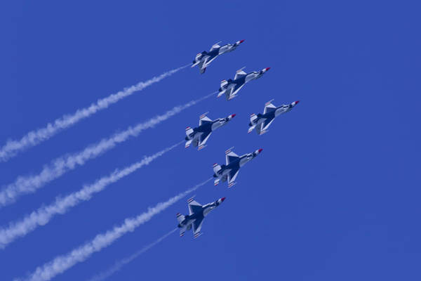 Photograph - Thunderbirds Diamond Formation With 6 by Donna Corless