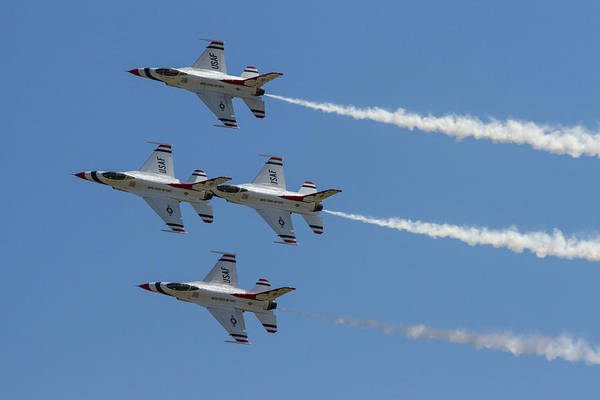 F-16 Photograph - Thunderbirds II by Bill Gallagher