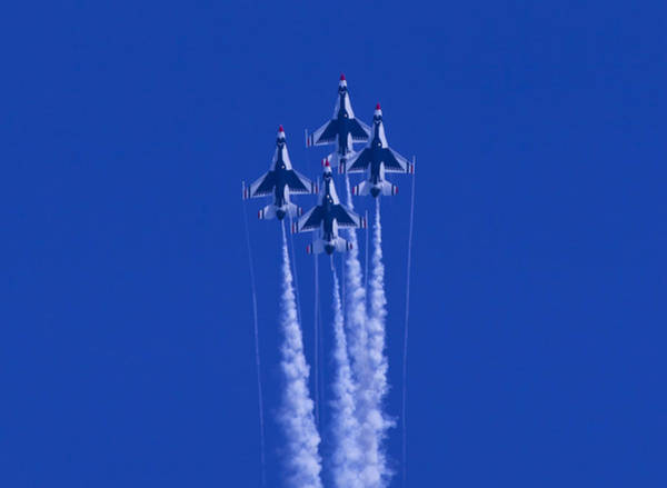 Photograph - Thunderbirds Straight Up by Donna Corless