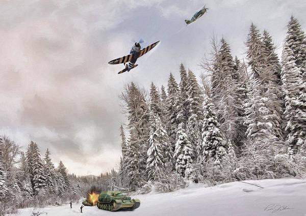 Wall Art - Digital Art - Thunderbolt Attack by Peter Chilelli