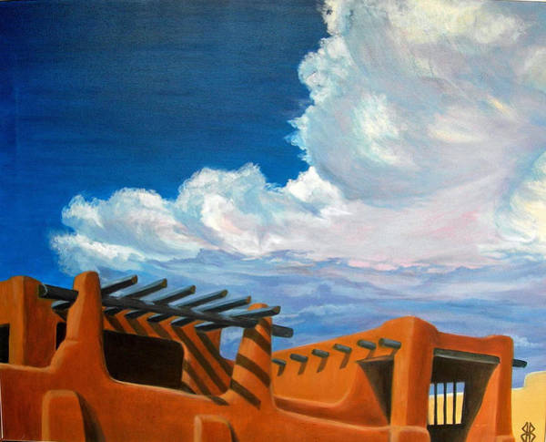 Wall Art - Painting - Thundercloud Over Santa Fe by Judi Forney