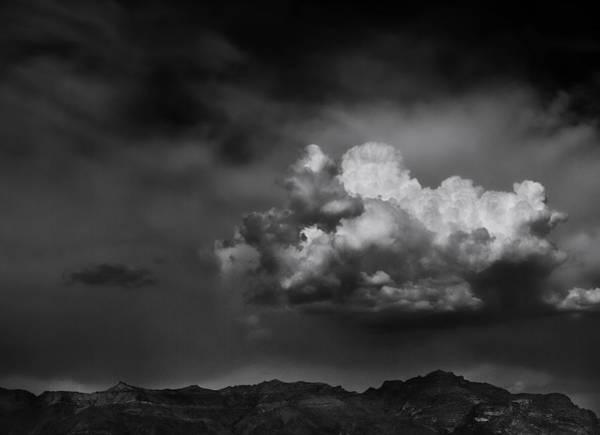 Superstition Mountains Photograph - Thunderhead Over Superstition Mountain by Jesse Castellano