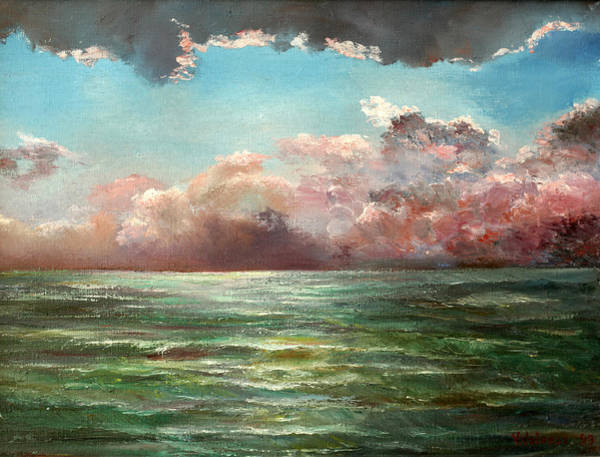 Russian Impressionism Wall Art - Painting - Thunderstorm On The See by Vladimir Volosov