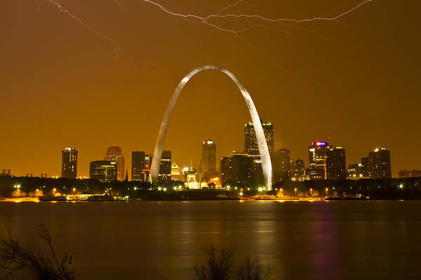 Photograph - Thunderstorm Over The City by Garry McMichael