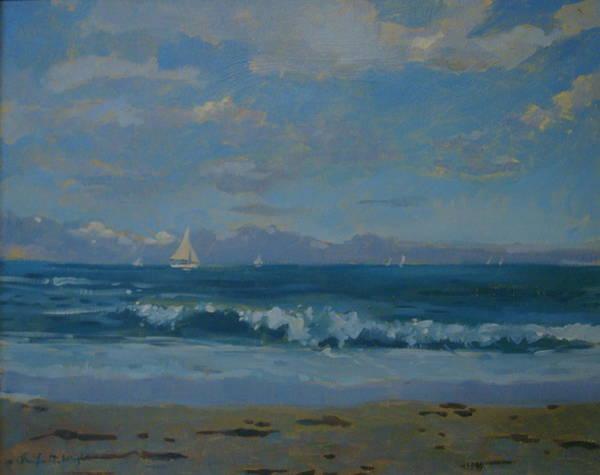 Devon Painting - Thurlestone Beach by Jennifer Wright