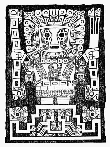 Wall Art - Drawing - Tiahuanaco Rain by Granger