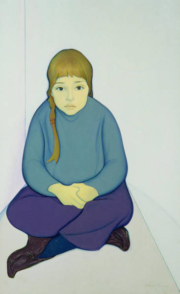 Daughter Photograph - Tiana, 1969 Acrylic & Canvas On Board by Antonio Ciccone