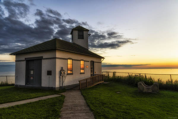 Foghorns Photograph - Tibbetts Point Fog Horn Building by Mark Papke